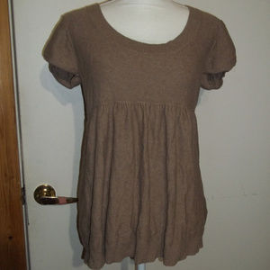 Old Navy Short Sleeve Babydoll Sweater L